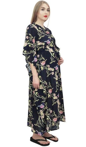 5d45532dd90f6 Bimba Mom's Printed Maternity Kaftan With Drawstring Waist Maxi Dress |  Trade Me