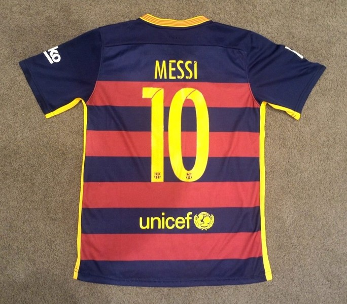 info for 0ba90 75cad 2015 Messi #10 Barcelona nike shirt - Adults size S or L