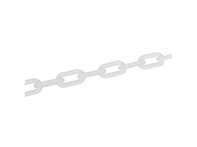 Fixman White Plastic Chain 6mm x 5m 568185