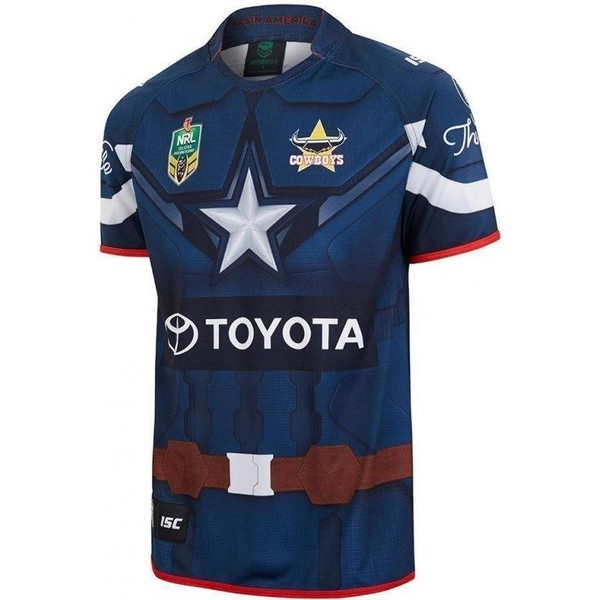brand new a70df a7c32 North Queensland Cowboys Ladies Captain America Marvel Jersey
