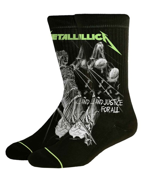 Metallica Socks And Justice For All Black