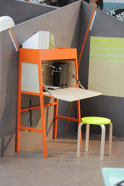 Ikea ps 2014 bureau orange birch veneer trade me