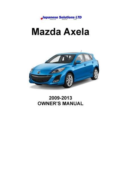 mini owners manual 2013