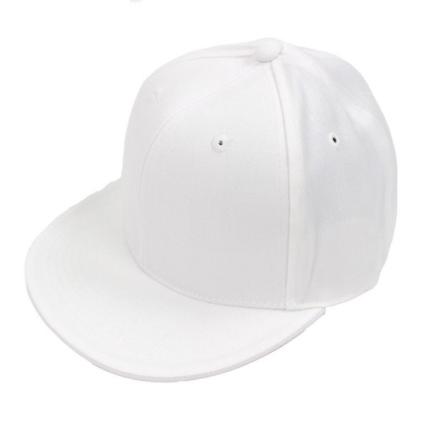 Decky Fitted Baseball Hat Cap Blank White 7 1 8  eb429c8de92d