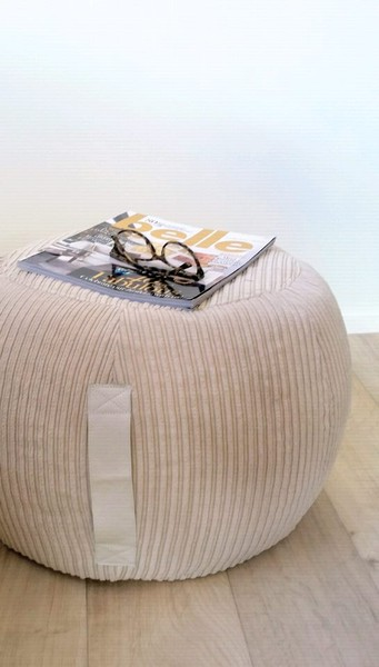 Fantastic Ottoman Pouf Beige Velvet Pouf Neutral Round Pouf Beanbag Pouf Bean Bag Gmtry Best Dining Table And Chair Ideas Images Gmtryco