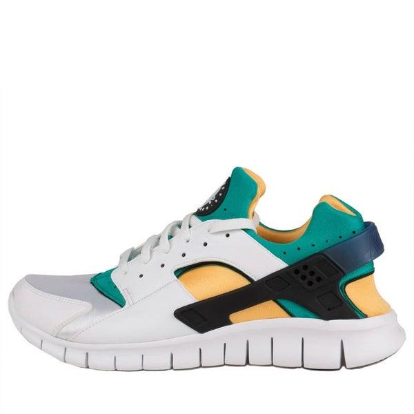 buy online 0b0c4 985a8 nike air huarache free run white blue emerald resin 514594 100 (men)