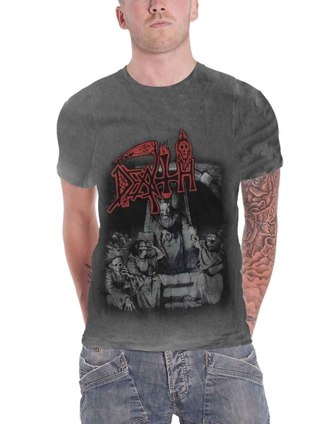 77afb0d19f4abb Death T Shirt Scream Bloody Gore Band Logo new Official Mens ...