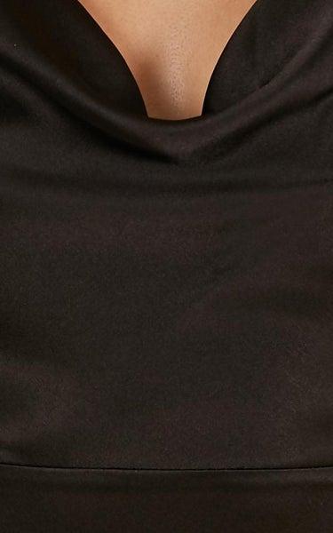e1bfaabf527 Showpo Style And Substance Maxi Dress In Black Satin