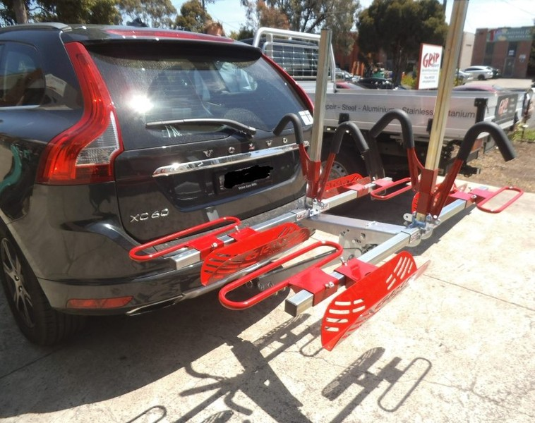 Four (4) Bike Tilting Car Rack - Model GS4+ (With Lights)