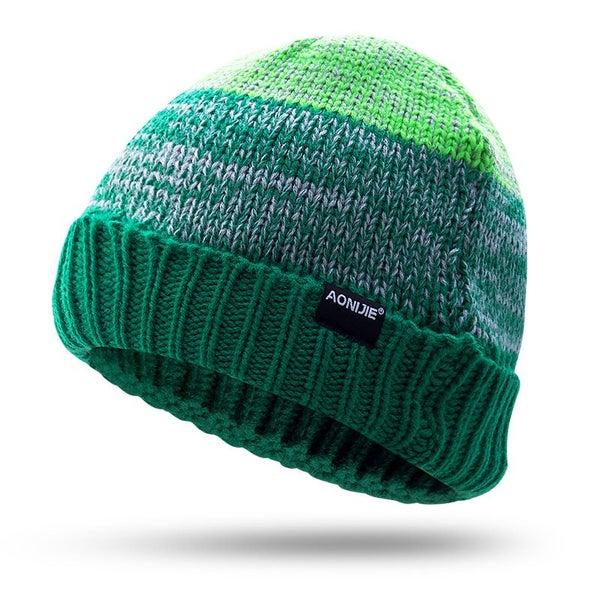 7936b4848d16c Men Women Knitted Hat Autumn Winter Running Hikking Travel Caps ...