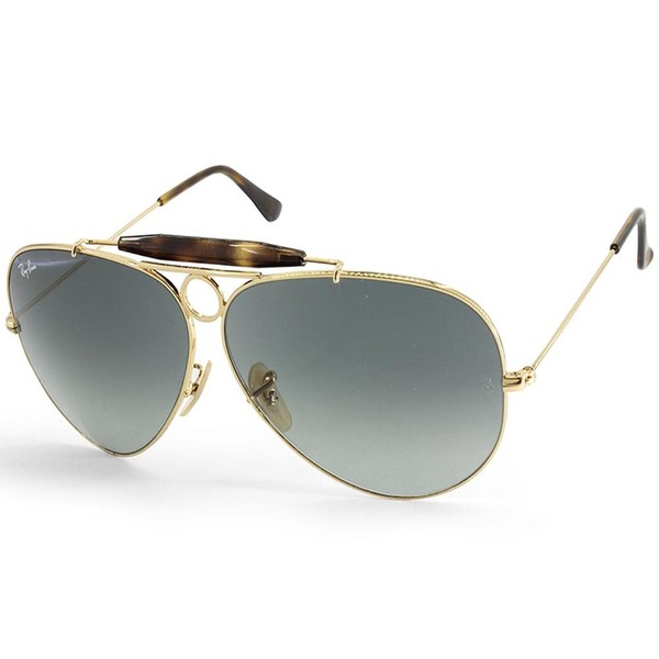 4ff1a15a38 Ray-Ban RB3138 181 71 Aviator Shooter Gold Grey Gradient Unisex ...