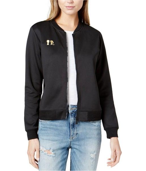 fa56d96e7 Boy Meets Girl Womens Embroidered-Logo Bomber Jacket   Trade Me