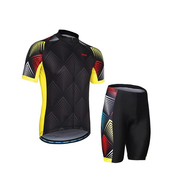 Summer Cycling Jersey Set Reflective Men Women Bicycle T Shirts ... 637a83331