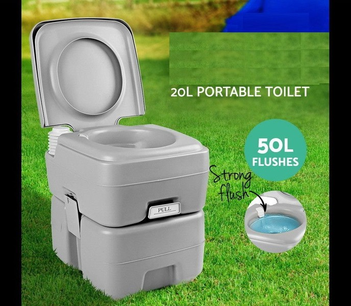 Portable Camping Toilet : 20l large capacity portable camping toilet camping potty loo pool