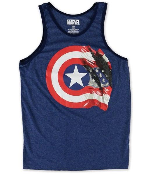 3d6442b427ad7 Marvel Comics Mens Captain America 75th Flag Tank Top