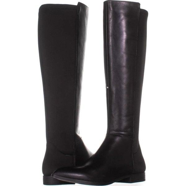 dd6e4f915d2b Nine West Owenford Wide Calf Flat Knee-High Riding Boots 016 ...