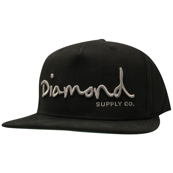 low priced ac978 ff0fc Diamond Supply Co OG Script Snapback Black   Trade Me