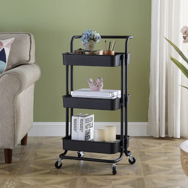Kitchen Pantry Storage Rack With Wheels 3 Tier Shelving Unit Trade Me