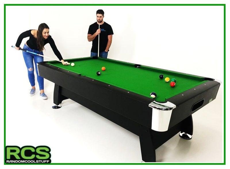 2 x 8ft Pool Table - Green 60% wool felt