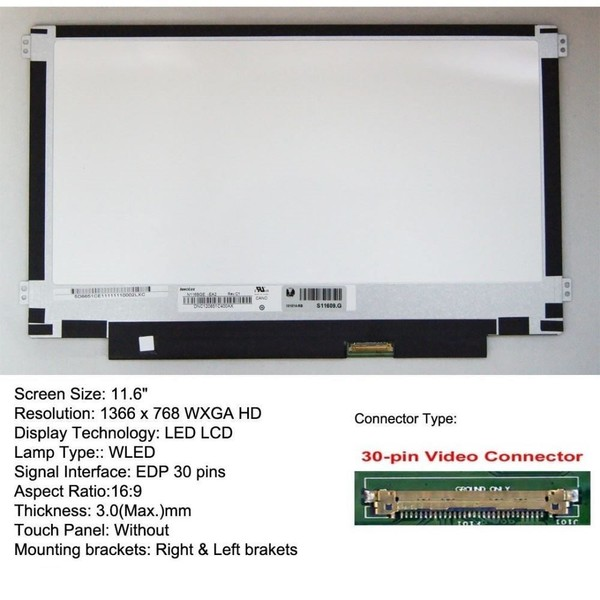 Acer Chrome Book C720-2420 11.6 WXGA Laptop LED LCD Screen