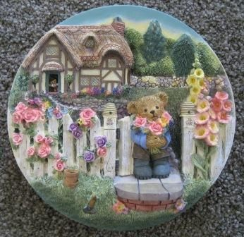 Teddy Bear Surprise Franklin Mint Ltd Ed Plate
