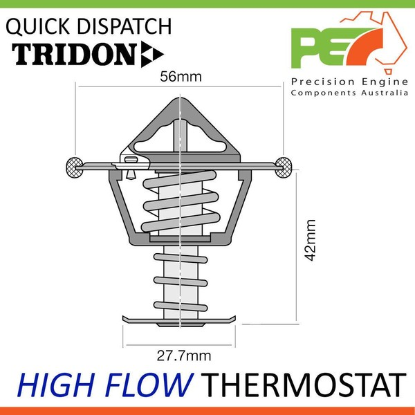 High Flow Thermostat For Mitsubishi Lancer CC TRIDON EFI CG CH New