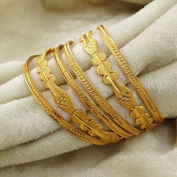 18k Goldplated Ethnic Bollywood 6pc Bangle Set Indian Women Bracelet Jewellery Jewelry & Watches