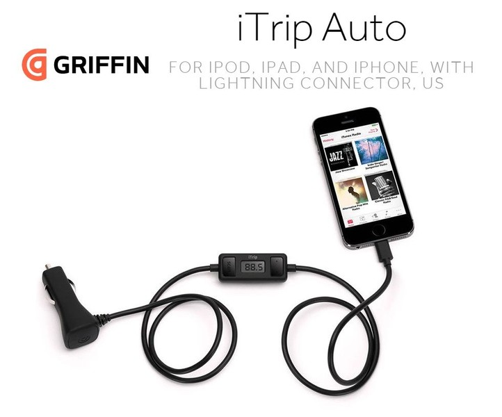 Black//Silver Griffin Technology iTrip Auto Mobile FM Transmitter
