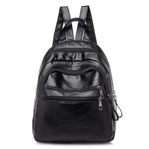 122b59b0be 15 x 25 x 39CM PU Leather Women   s Backpacks School Student Pack Outdoor  Campin