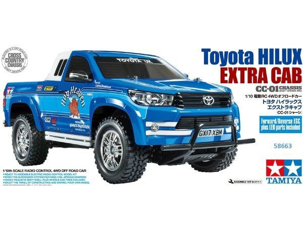 Tamiya 1 10 Toyota Hilux Extra Cab Cc 01 Kit New Trade Me