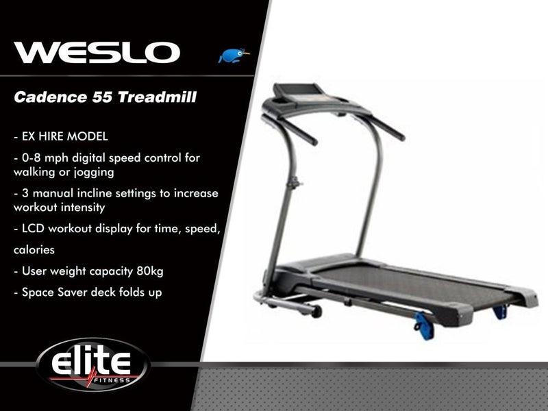 Weslo Cadence 55 Treadmill Elite Fitness