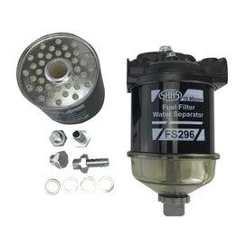 SAAS Diesel Fuel Filter Water Separator 10 Micron 3/8 Barbed
