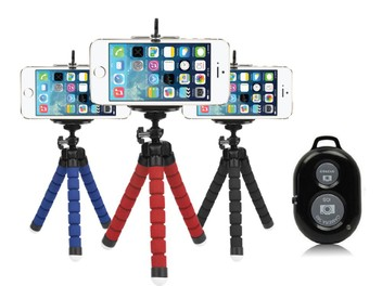 iPhone Tripod Mount Holder Stand + Bluetooth Selfie remote
