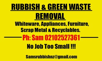 Rubbish removal & Green waste removal.