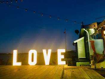 LOVE or MR & MRS light box signs for HIRE