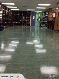 Linoleum and Vinyl Floor Polishing