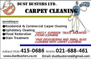 Carpet Cleaninng Specialist - Dust Busters Ltd