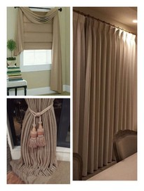 Curtains and Roman Blinds making
