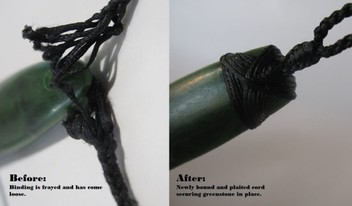 Greenstone / pounamu repair & cord replacement