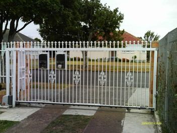 Steel sliding gates, fences and boat trailers.