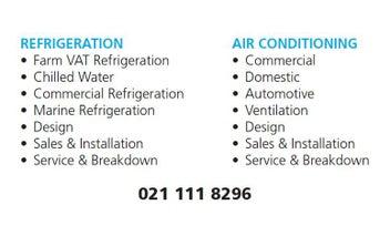 AIR CONDITIONING & REFRIGERATION SERVICE
