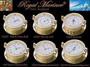 Brass Clocks + parts ROYAL MARINER® -also Plastimo