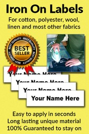 Iron On Clothing Name Labels and Personalised Tags