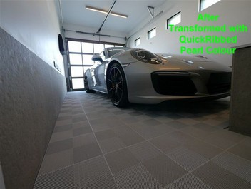 QuickClick garage and showroom flooring
