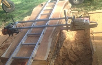 Onsite chainsaw milling