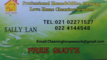 LOVE HOME CLEANING SERVICES//Home and Office