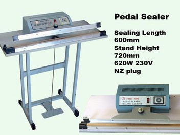 sealers 600mm pedal sealing machine foot step