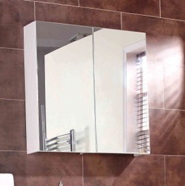 IKEA - LILLÅNGEN Bathroom Mirror cabinet with 2 doors 60x64cm ...
