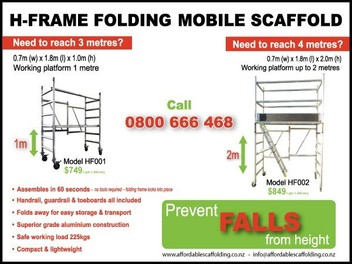 H-Frame Folding Mobile Scaffold