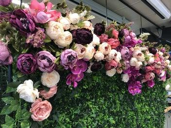 For HIRE Silk Flower Backdrop / Flower wall